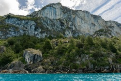 Marble Cathedral at Chelenko Lake, Chelenko is a word that means lake of the tempests. This like is part of Chile and Argentina, it is the biggest lake in Chile and the second in Southamerica.