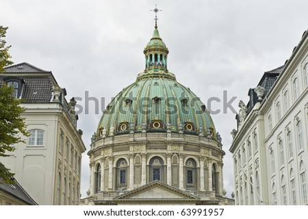 Marble Church located at Copenhagen, Denmark