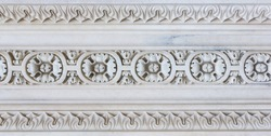 Marble decoration detail; photo taken from a gothic church in Italy.