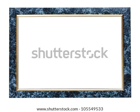 Marble effect picture frame isolated