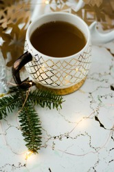 Marble Fir Coffee Mug