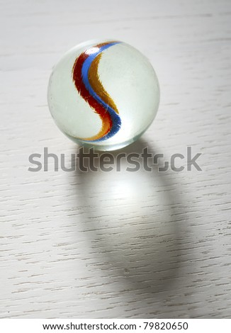 Stock Photo marble glass ball