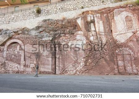 Marble graffito  - Shutterstock ID 710702731