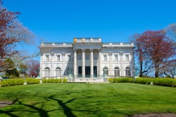 Marble House is a Gilded Age mansion with Beaux Arts style in Bellevue Avenue Historic District in Newport , Rhode Island RI, USA.