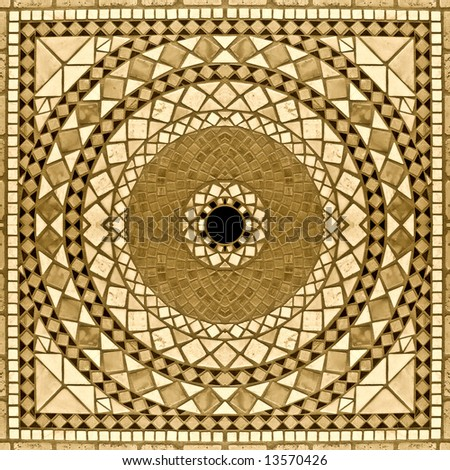 Marble mosaic background 2. Sepia version