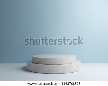 Marble  podium minimal  wall scene 3d rendering, 3d illustration