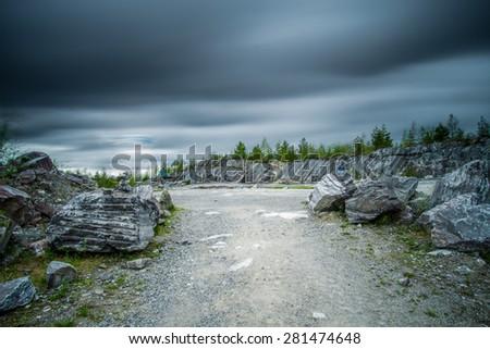 Marble quarry