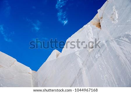 Marble quarry in Carrara italy
