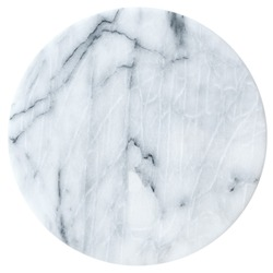 Marble round board isolated on white background.