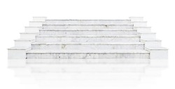 marble stair isolated on white