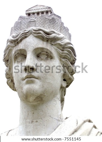 marble statue bust of Athena