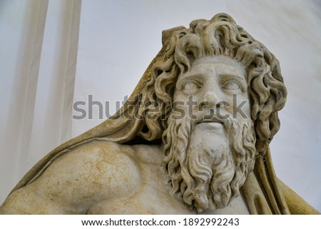 Marble statue in Naples National Archaeological Museum. The museum contains a large collection of Roman artifacts from Pompeii, Stabiae and Herculaneum. Сток-фото ©