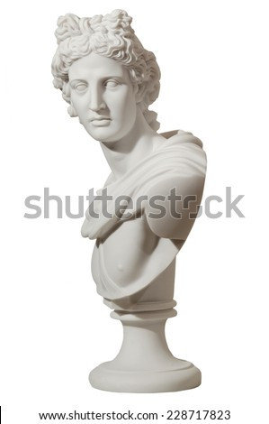 marble statue of a man on an isolated background #228717823
