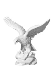 marble statue of an eagle on a white background