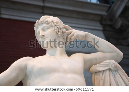 Marble statue of Greco-Roman man
