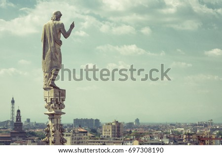 marble statue on the stone...