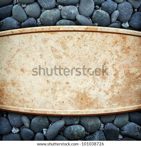 marble stone with pebble