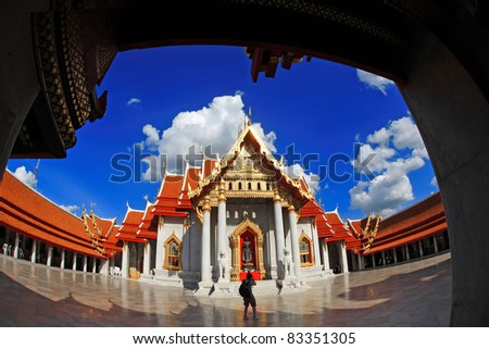 Marble Temple in Bangkok Thailand