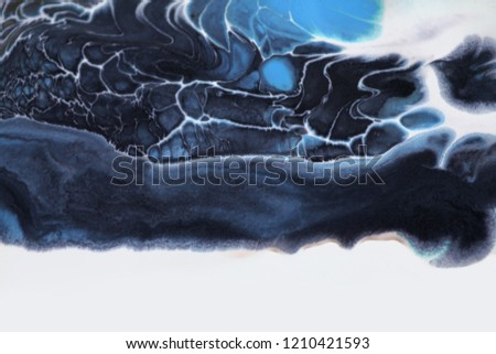Marble texture. Acrylic colors blots. Abstract background.  #1210421593