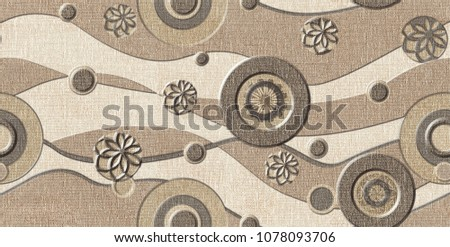 Stock Photo marble wall and floor for kitchen and bath tile for print , flower abstract texture  background , fabric textile pattern for indian saree  t-shirt design