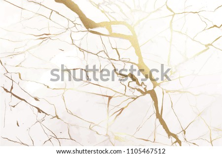 Marble with golden texture background vector illustration design for wedding invitation card, banner, cover, luxury pattern template - Shutterstock ID 1105467512