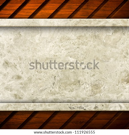 marble with wood frame