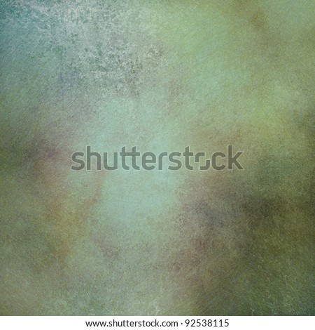marbled green background with soft faded highlight and vintage grunge texture and mottled brown and gold accent designs in layout with copy space for ad text or brochure