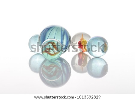 marbles, sphere, crystal, transparent, reflection #1013592829