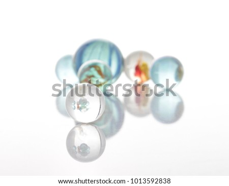 marbles, sphere, crystal, transparent, reflection #1013592838