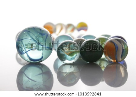 marbles, sphere, crystal, transparent, reflection #1013592841