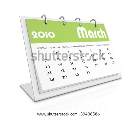 march 2010 - stock photo