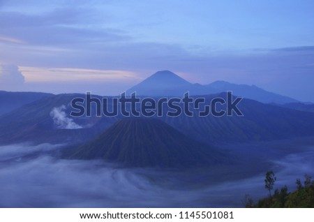 March 2013, the morning in Mount Bromo East Java Indonesia. #1145501081
