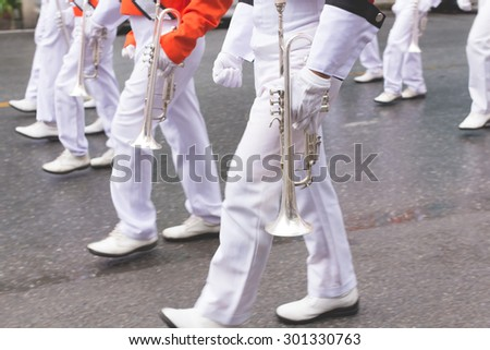 marching band parade background