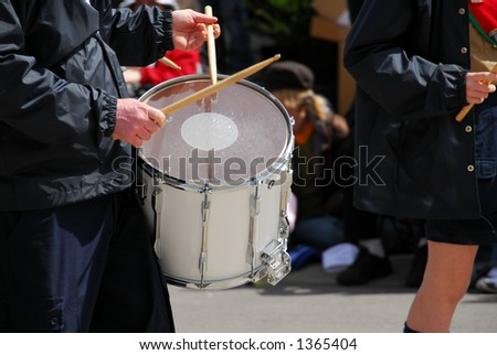 Marching band playing drums