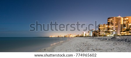 Marco Island beach at Night