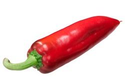 Marconi sweet pepper (Capsicum annuum), red ripe