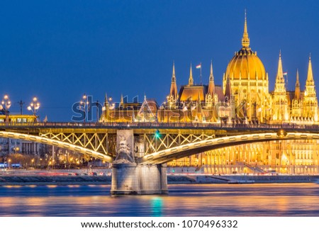 Margaret Bridge with tram - Budapest - Hungary