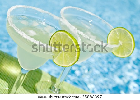 Margarita Cocktail by the Pool