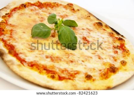 Margarita pizza - stock photo