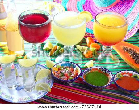 stock photo : margarita sex on the beach cocktail beer tequila Mexico drinks ...