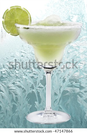 Margaritas with lime - stock photo