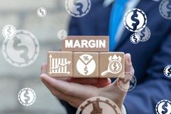 Margin Business Investment Concept. Profit Money Stock Finance.