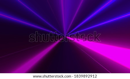 Marging of radial neon rays, computer generated. 3d rendering abstract dynamic background with colorful bands Photo stock ©