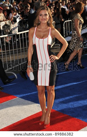 """Maria Menounos at the premiere of """"Captain America: The First Avenger"""" at the El Capitan Theatre, Hollywood. July 19, 2011  Los Angeles, CA Picture: Paul Smith / Featureflash - stock photo"""