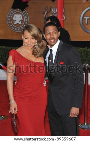 Mariah Carey & Nick Cannon at the 16th Annual Screen Actor Guild Awards at the Shrine Auditorium. January 23, 2010  Los Angeles, CA Picture: Paul Smith / Featureflash