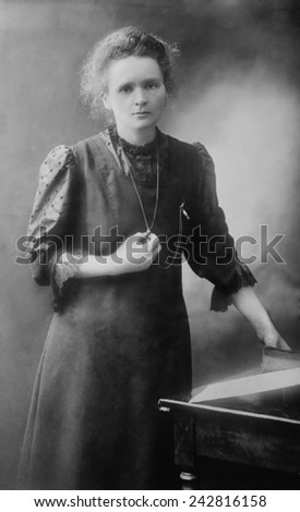 Marie Curie (1867-1934), Polish-French physicist who won two Nobel Prizes, in 1903 for Physics and 1911 for Chemistry. Photo stock ©