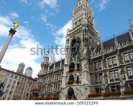 Marienplatz, Munich,Germany - Town Hall -  clock tower