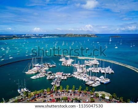 Marigot Bay Port in Saint Marten