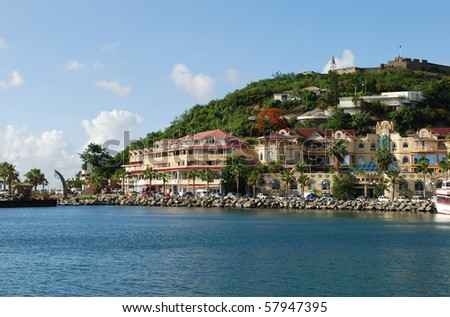 Marigot city, St. Martin Island