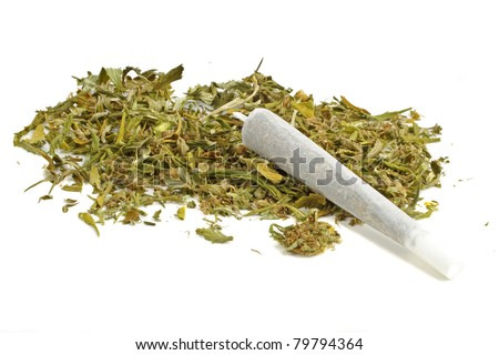Marihuana joint with marihuana